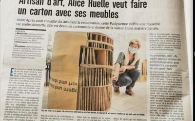 Création et carton dans la Presse – article de L'Union